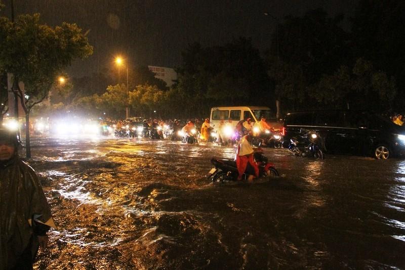 Chùm ảnh: Sân bay Tân Sơn Nhất bị biển nước vây quanh - ảnh 10