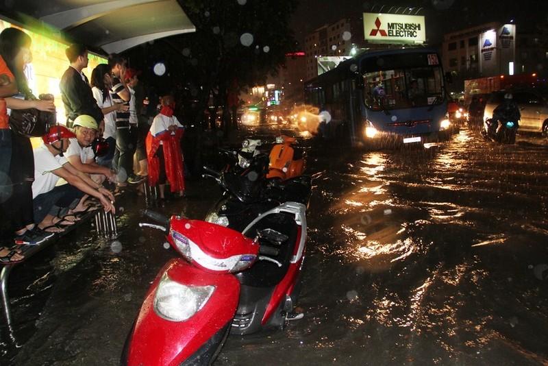 Chùm ảnh: Sân bay Tân Sơn Nhất bị biển nước vây quanh - ảnh 11