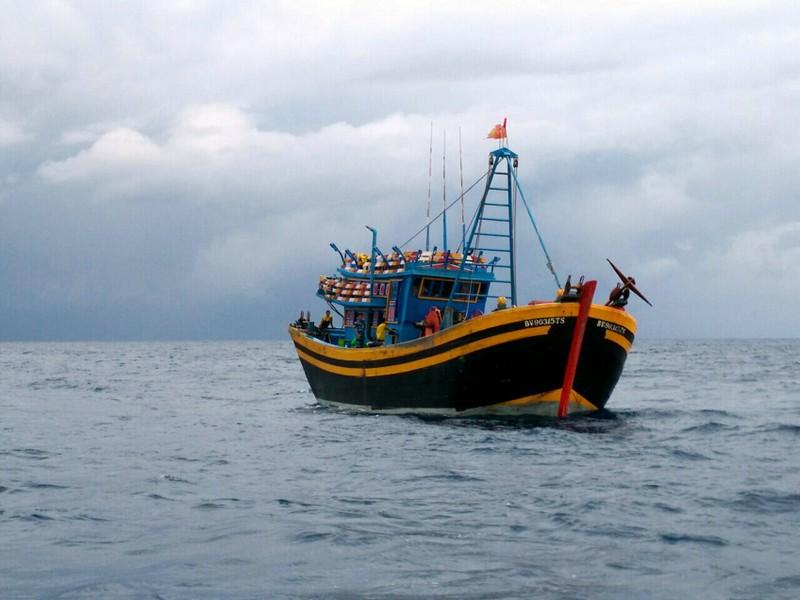 Lai dắt tàu vi phạm về đất liền