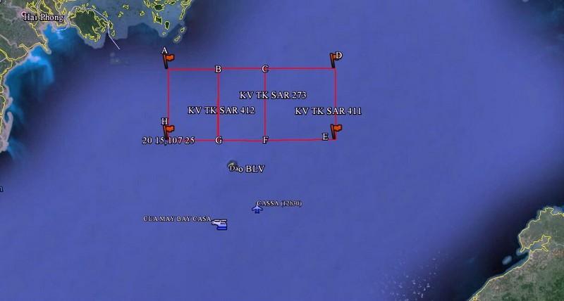 Tìm kiếm CASA 212: Huyện đảo Bạch Long Vĩ huy động tổng lực  - ảnh 1