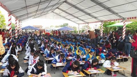 Hải Phòng: Hơn 500 học sinh giỏi dự lễ khai bút  - ảnh 1