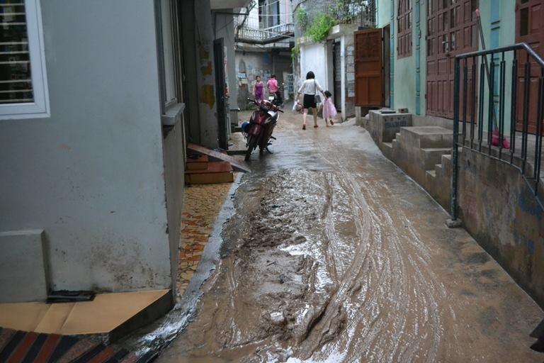 Hàng ngàn m3 bùn đất ập xuống khu dân cư - ảnh 3