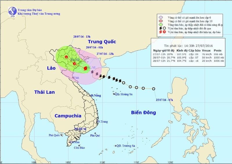 Bão số 1 đột ngột chuyển hướng không về Hải Phòng và Quảng Ninh - ảnh 1