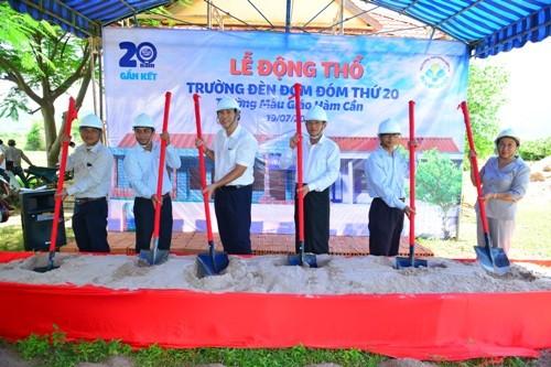 Khởi công xây dựng Trường Đèn Đom Đóm thứ 20 - ảnh 1