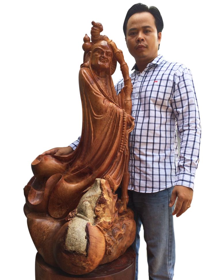 Nghệ nhân điêu khắc ứng dụng công nghệ vào quảng bá - ảnh 1