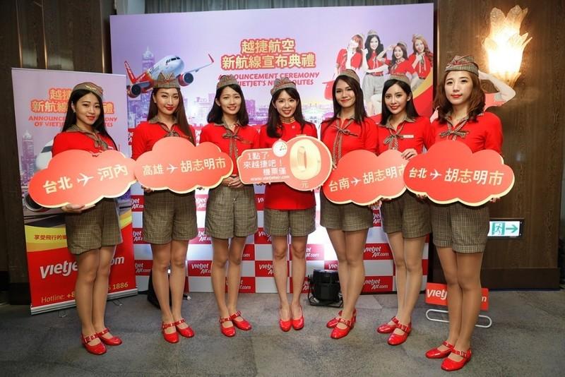 Vietjet mở cùng lúc 2 đường bay tới Đài Loan - ảnh 1