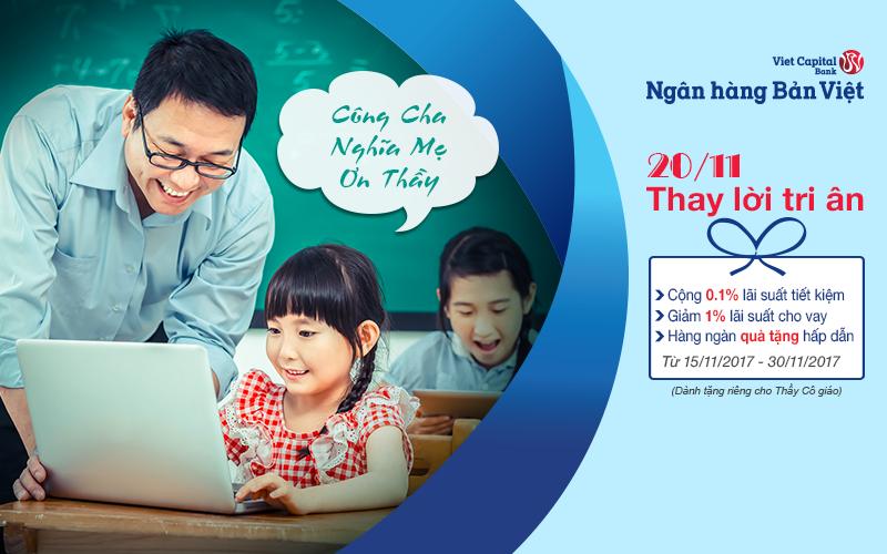 Ngân hàng Bản Việt tri ân thầy cô giáo - ảnh 1