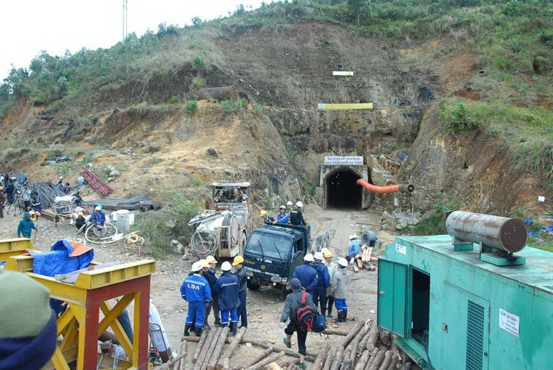 Thủy điện Đạ Dâng được thi công trở lại sau một năm bị sập - ảnh 1