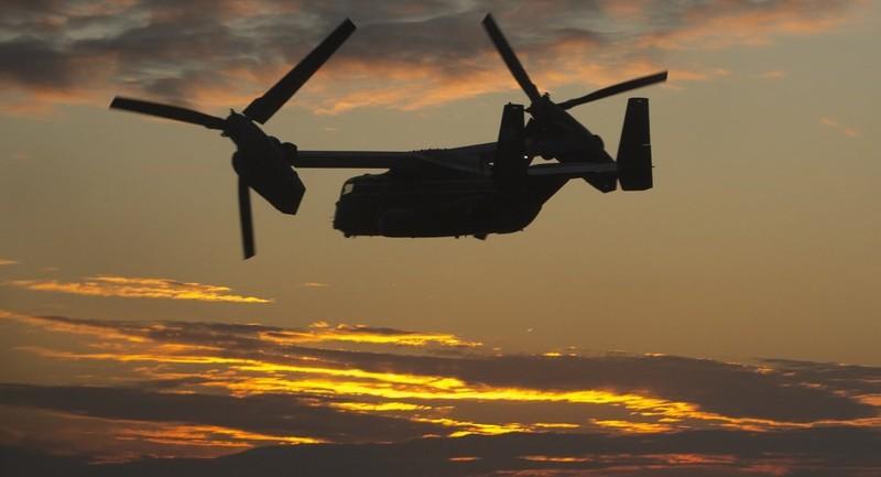 Máy bay quân sự Mỹ rơi - ảnh 1