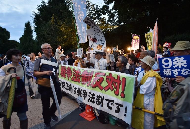 Hàng nghìn người phản đối dự luật an ninh của Nhật Bản - ảnh 1