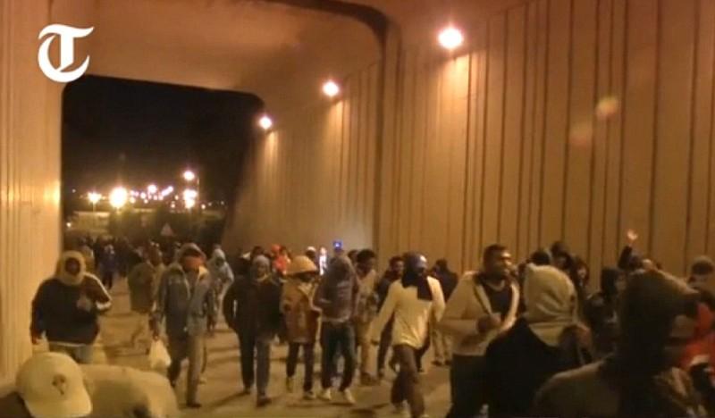 Hơn 200 người chắn hầm biên giới đòi Pháp cho vào Anh - ảnh 1