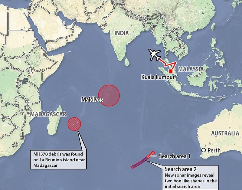 Phát hiện hai khối hộp dưới đáy biển nghi của MH370 - ảnh 1