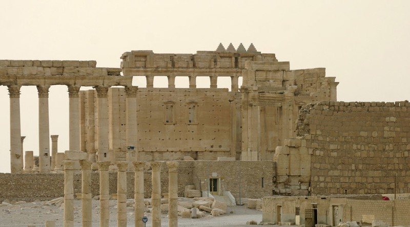 IS tiếp tục phá hủy nhiều mộ cổ tại thành phố Palmyra - ảnh 1