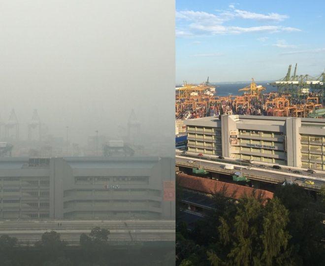Khói bụi từ Indonesia khiến Singapore ô nhiễm nặng - ảnh 1