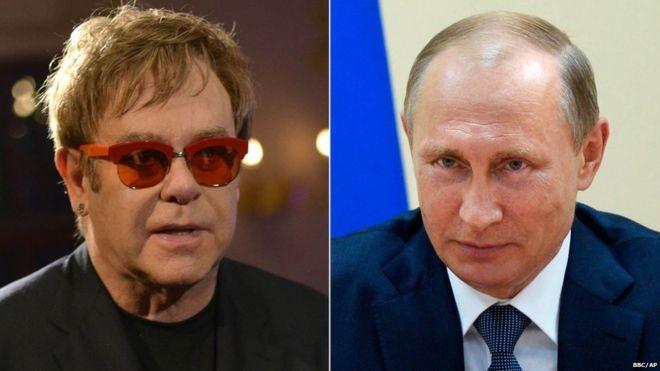 Putin sẽ gặp Elton John để 'nói chuyện' về quyền của người đồng tính? - ảnh 1