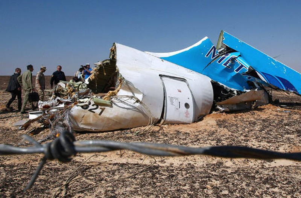 Máy bay Nga chở 224 người rơi: Bị bắn hạ hay bị nổ bom? - ảnh 1