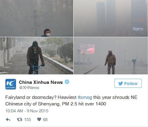 Ô nhiễm kỷ lục tại Trung Quốc: 'Tiên cảnh hay ngày tận thế?' - ảnh 1