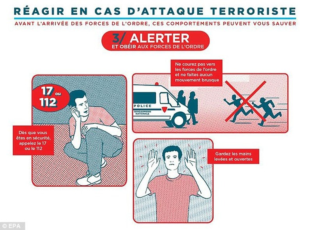 Pháp tung áp phích hướng dẫn người dân tránh khủng bố - ảnh 2