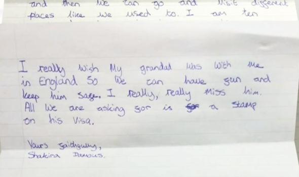 Cô bé 10 tuổi viết thư xin thủ tướng Anh cho ông nội nhập cảnh - ảnh 3