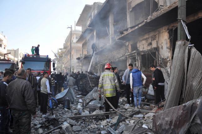 Đánh bom kép tại Syria, 32 người thiệt mạng - ảnh 1