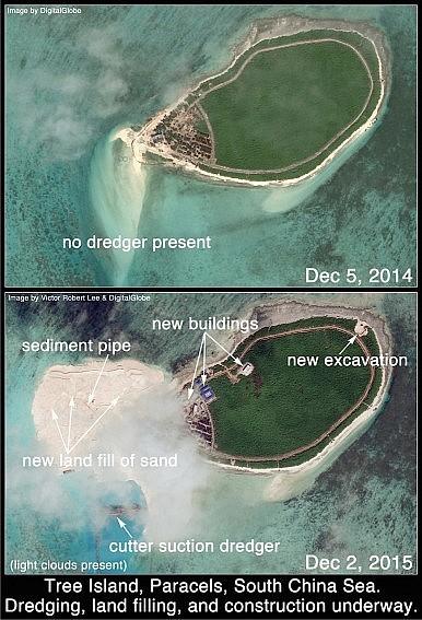 Phát hiện Trung Quốc xây căn cứ trực thăng trái phép ở Hoàng Sa - ảnh 2
