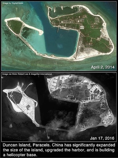 Phát hiện Trung Quốc xây căn cứ trực thăng trái phép ở Hoàng Sa - ảnh 3