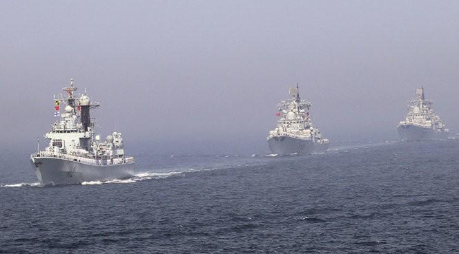 Tàu chiến Trung Quốc rời cảng đến biển Đông tập trận - ảnh 1