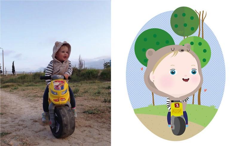 Siêu đáng yêu em bé từ ảnh thật bước vào đồ họa - ảnh 12