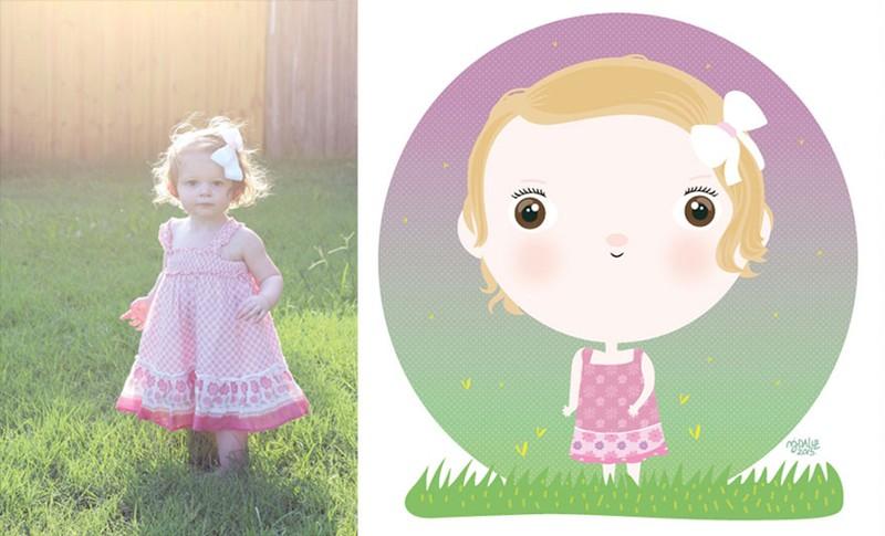 Siêu đáng yêu em bé từ ảnh thật bước vào đồ họa - ảnh 4
