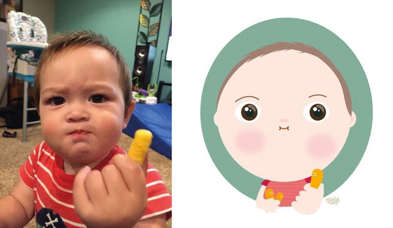Siêu đáng yêu em bé từ ảnh thật bước vào đồ họa - ảnh 7