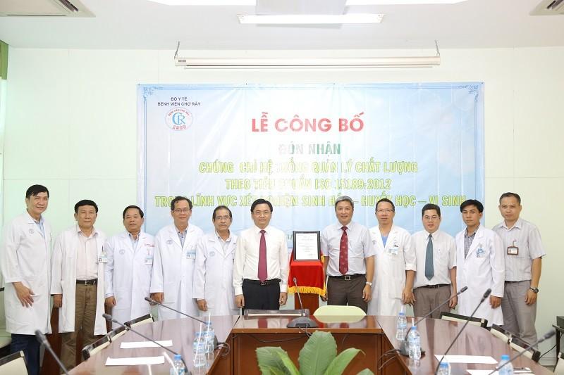 BV Chợ Rẫy nhận chứng chỉ chất lượng ISO đầu tiên ở phía Nam - ảnh 1