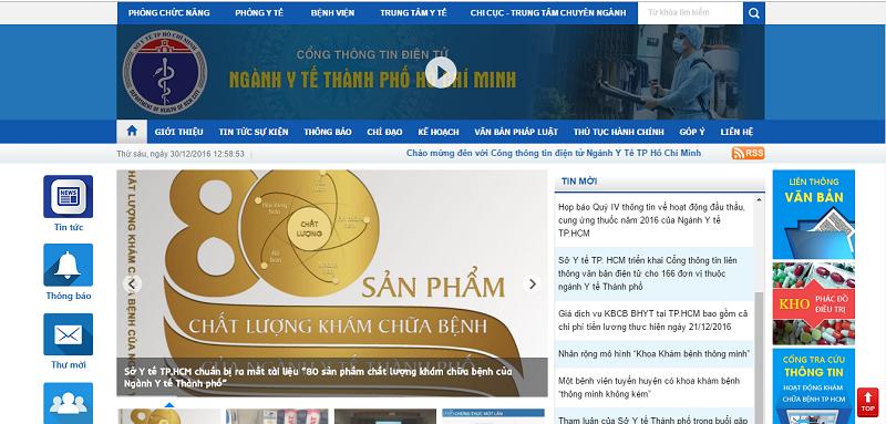 Ra mắt cổng thông tin điện tử ngành y tế TP.HCM - ảnh 1