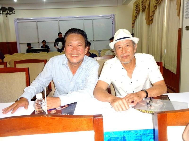 Nhạc sĩ Lê Quang và đạo diễn Đinh Anh Dũng.