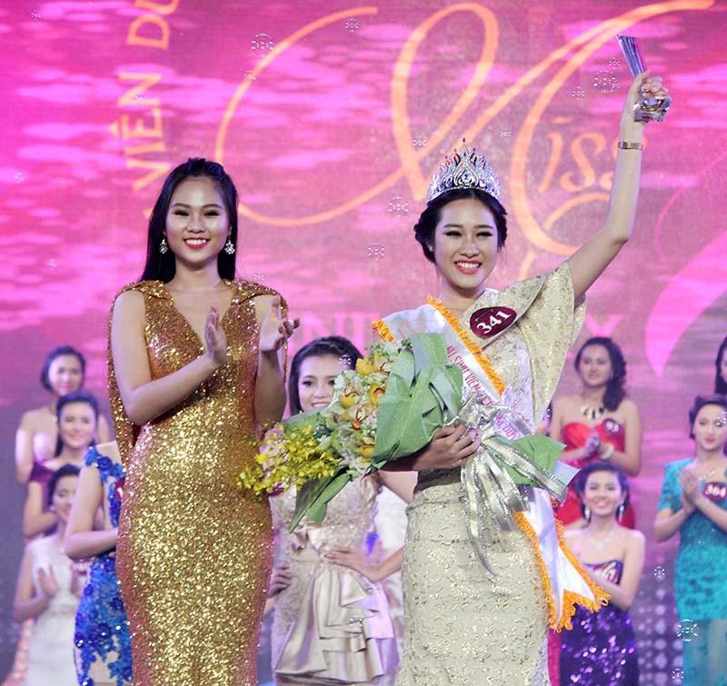 Đặng Mỹ Huyền đăng quang Hoa khôi Nữ sinh viên Việt Nam  - ảnh 1