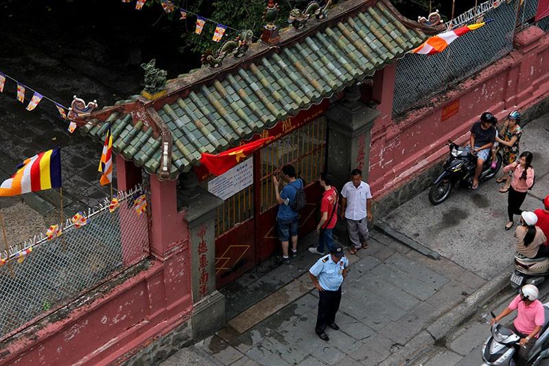 Thắt chặt an ninh chùa Ngọc Hoàng trước giờ Tổng thống Obama đến thăm  - ảnh 2