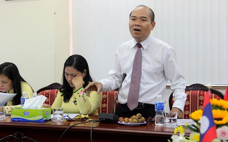 Đoàn tư pháp tỉnh Luang prabang thăm Sở tư pháp TP.HCM - ảnh 5