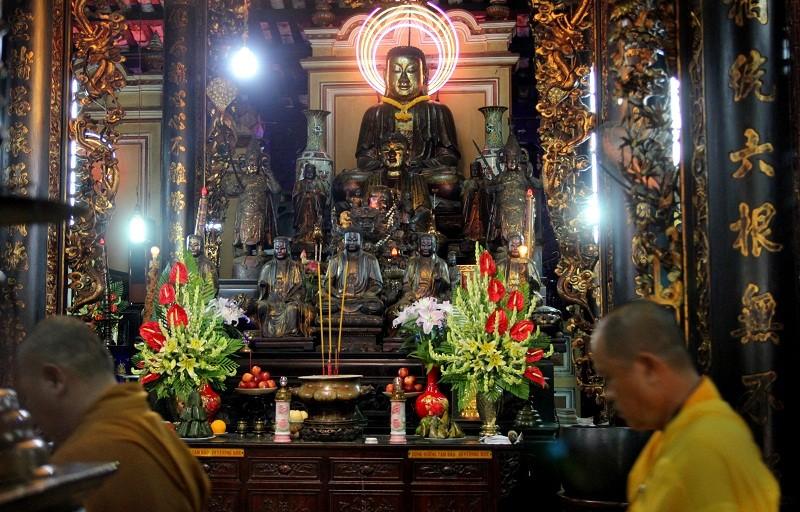 Ngôi chùa gần 300 năm tuổi giữa lòng thành phố - ảnh 8