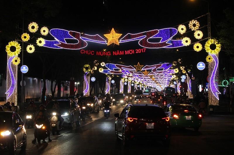 TP.HCM lung linh đèn hoa chào năm mới 2017 - ảnh 6