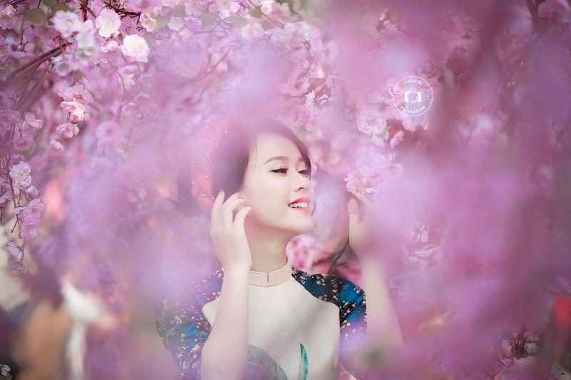 Ngắm Á khôi Nữ sinh viên VN duyên dáng bên hoa đào - ảnh 9