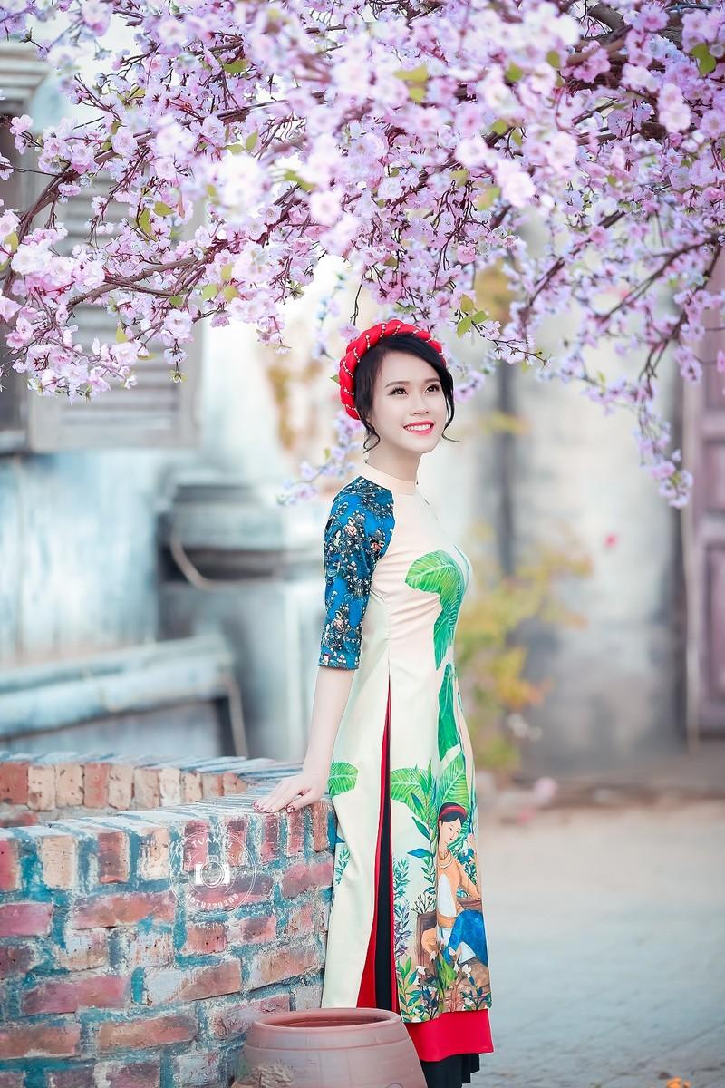 Ngắm Á khôi Nữ sinh viên VN duyên dáng bên hoa đào - ảnh 7