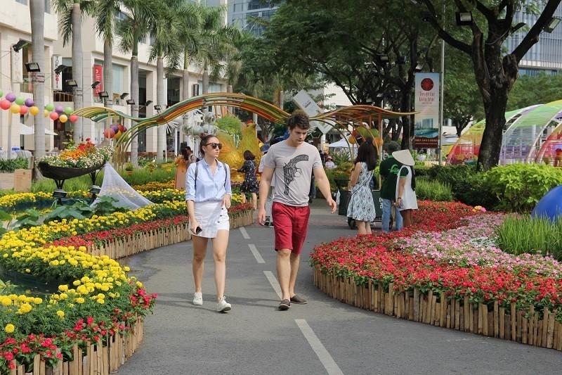 Lạ mắt vườn hoa đồng nội ở 'khu nhà giàu' - ảnh 3