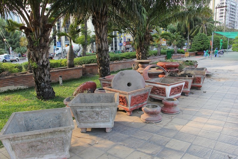 Cảnh điêu tàn trong công viên bến Bạch Đằng - ảnh 9
