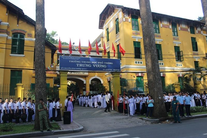 Ngôi trường có kiến trúc cổ kính và được mệnh danh là một trong những trường đẹp nhất thành phố.