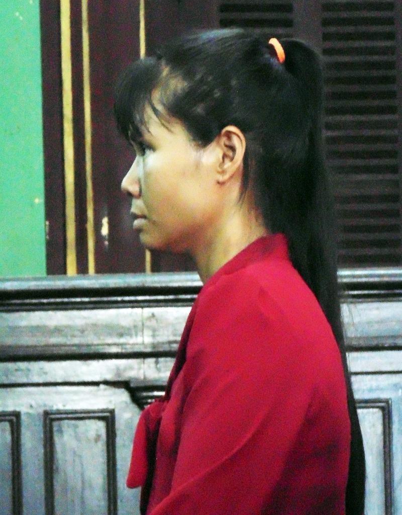 Bị cáo Mai tại tòa