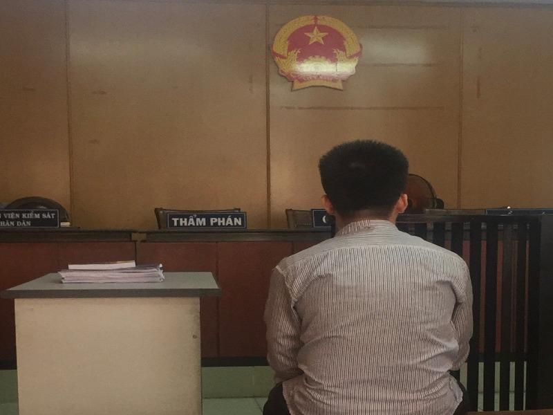 Bị cáo Định lúc toà nghị án