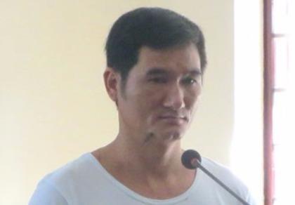Bị cáo Tân tại phiên xử