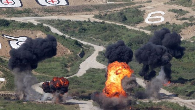 Triều Tiên đe dọa tấn công hạt nhân phủ đầu - ảnh 1