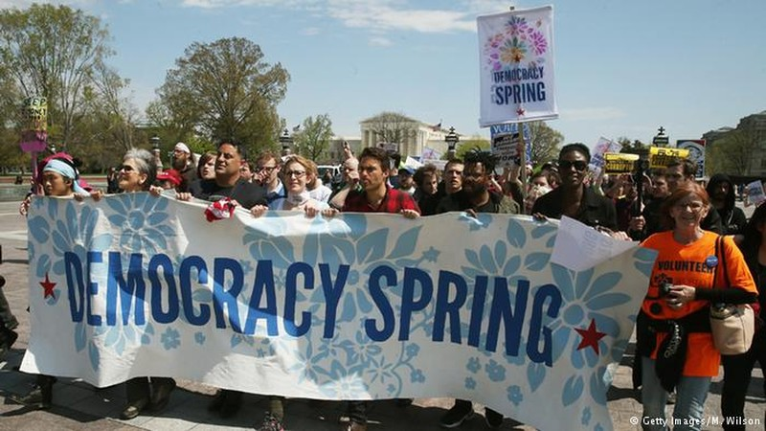Mỹ bắt 400 người biểu tình Mùa xuân Dân chủ - ảnh 1