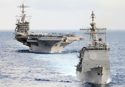 Ấn Độ, Mỹ, Nhật tập trận gần biển Đông - ảnh 1