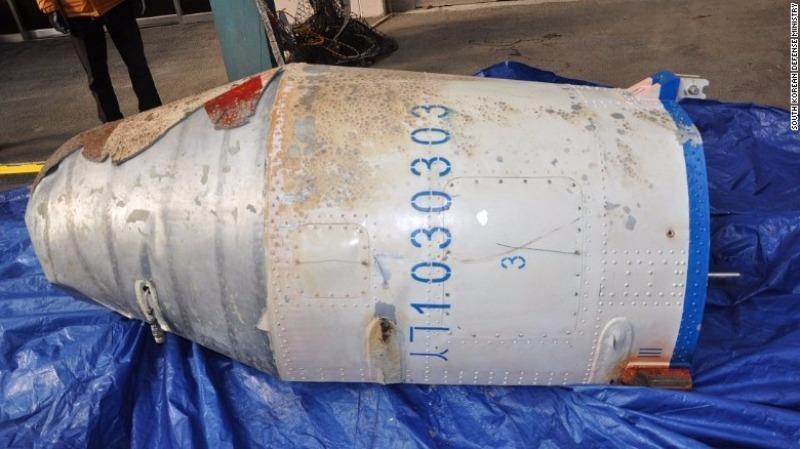 Mảnh vỡ tên lửa Triều Tiên